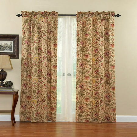 Waverly Imperial Dress Antique Curtain Panel (Waverly Cotton Drapes)