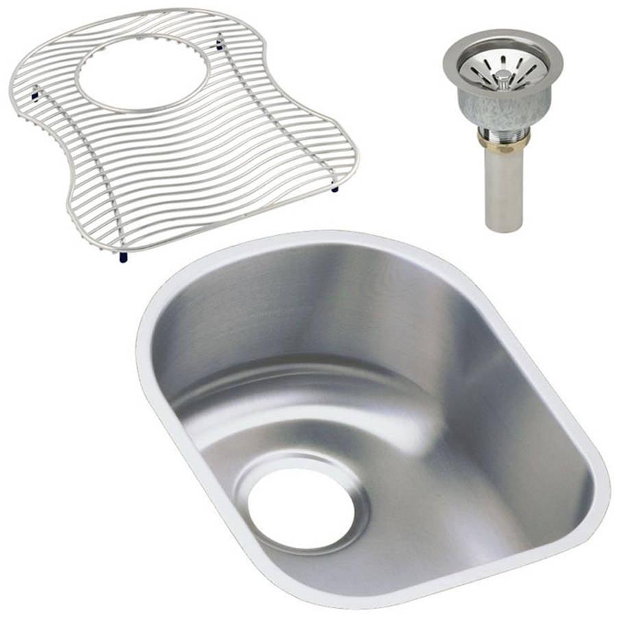 Elkay ELUH1317DBG Harmony Lustertone Stainless Steel Single Bowl Undermount Sink Kit
