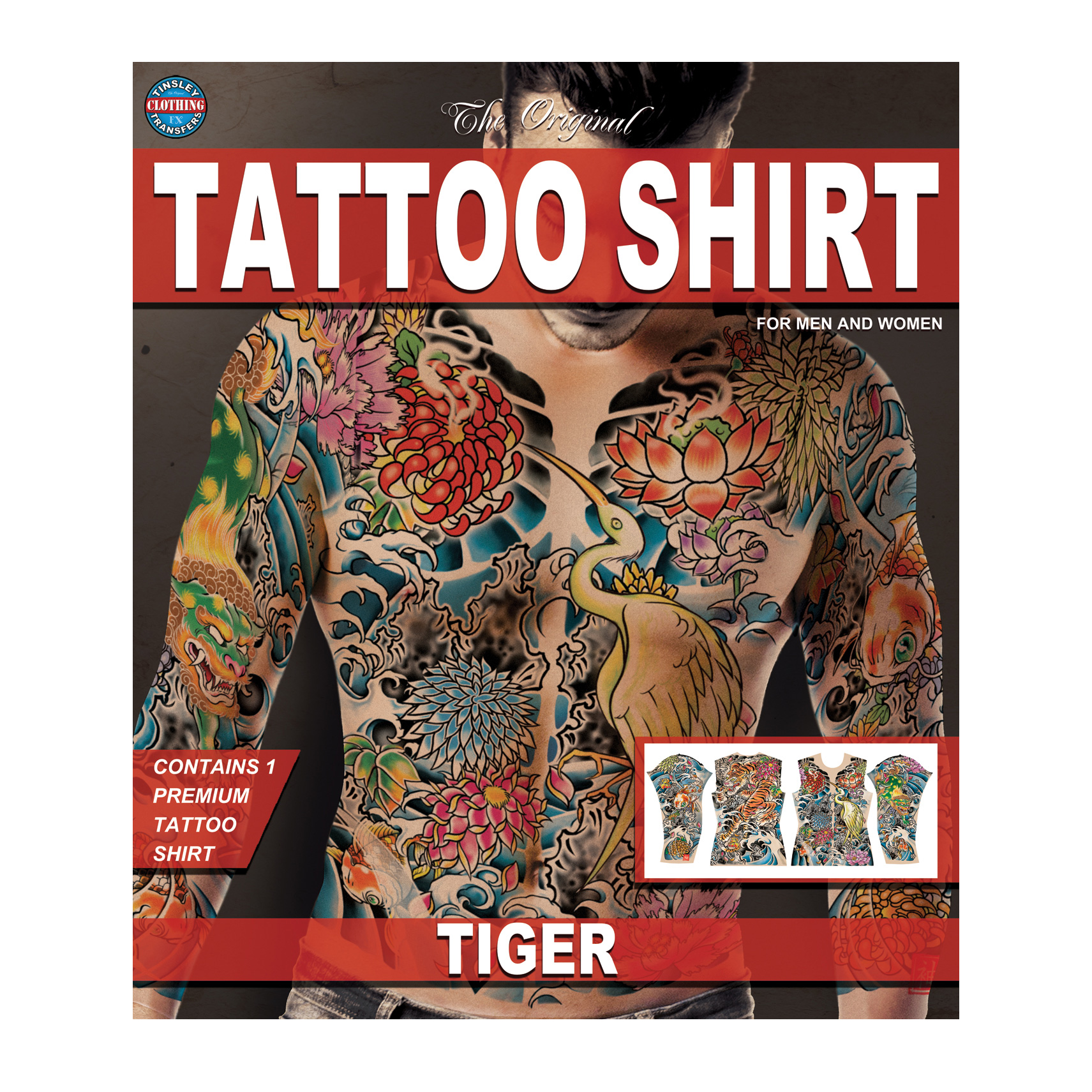 Tinsley Transfers Tiger Tattoo FX Shirt, Large/X-Large
