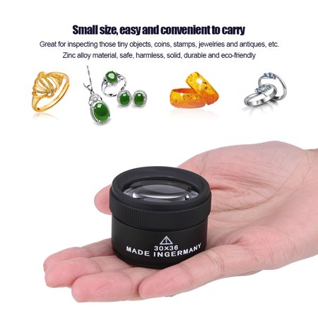 Yosoo Jewelry Magnifier,  New Jewelry Optical Magnifier Glasses 30x Magnifying Lens Jewelries Loupes Tool, Jewelry Glasses Magnifying - image 1 of 7