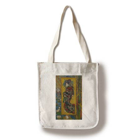 Courtesan - Masterpiece Classic - Artist: VIncent Van Gogh c. 1887 (100% Cotton Tote Bag - Reusable)