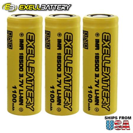 3x IMR 18500 3.7V Li-Ion (LiMN) 1100mAh 15A Rechargeable Battery Mod Vape