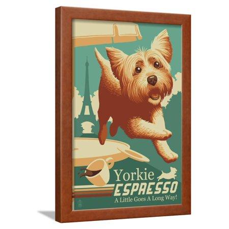 Yorkshire Terrier Retro Yorkie Espresso Ad Turquoise