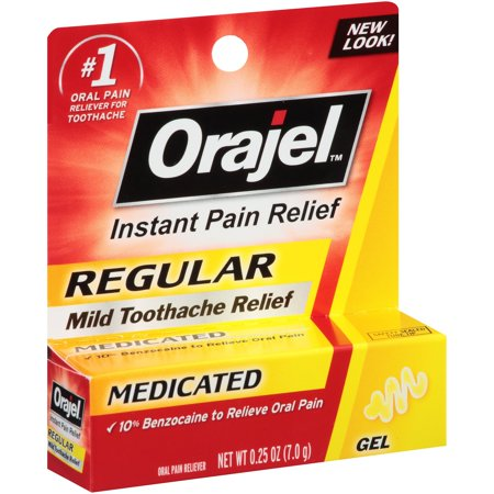Orajel™ Regular Strength Gel Oral Pain Reliever for Toothache 0.25 oz.