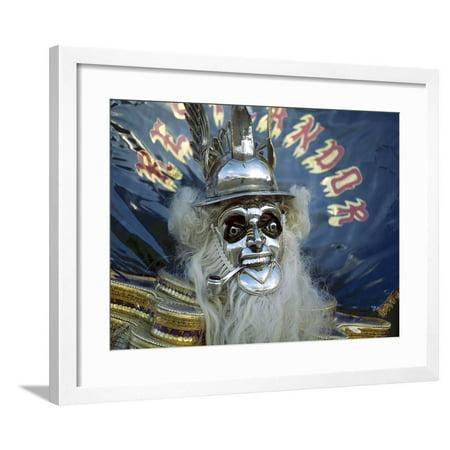 Native Dancer in Mask and Headdress, La Paz, Bolivia Framed Print Wall Art By Jim Zuckerman Native Art Masks