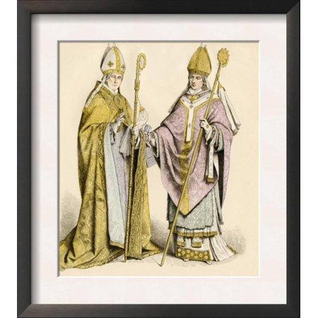 Roman Catholic Bishop in a Choir-Robe and a Bishop in His V... Framed Art Print Wall Art (Choir Robes)