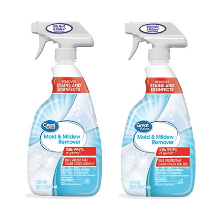 (2 Pack) Great Value Mold & Mildew Remover, 1 qt (Best Cleaning Solution For Mold)