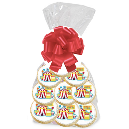 12pack Carnival Party Birthday Party Favor Decorated Cookies - Carnival Birthday