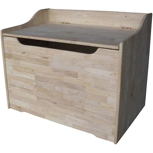 International Concepts Toy Storage Box with Curved Top, Unfinished