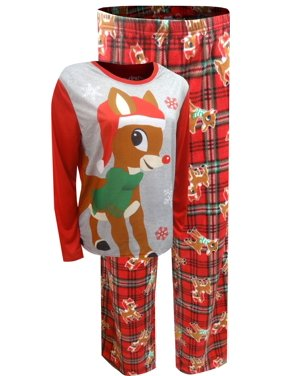 Briefly Stated Women's Rudolph The Red-Nosed Reindeer Plus Size Christmas Pajama