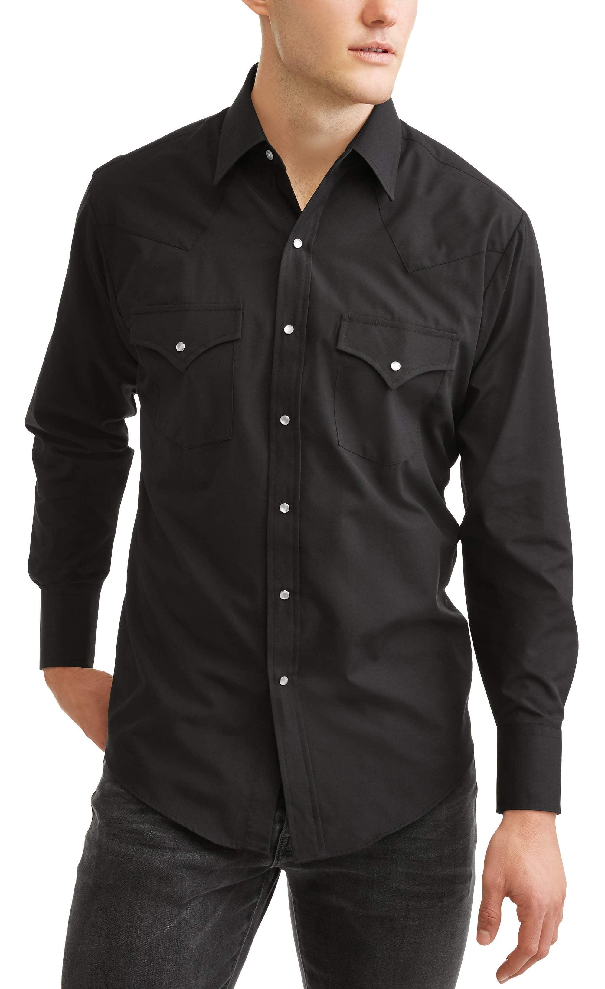 Plains Men's Long Sleeve Basic Snap Western Shirt
