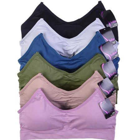 Uni Style Apparel Women 6 Pack Seamless Sports -