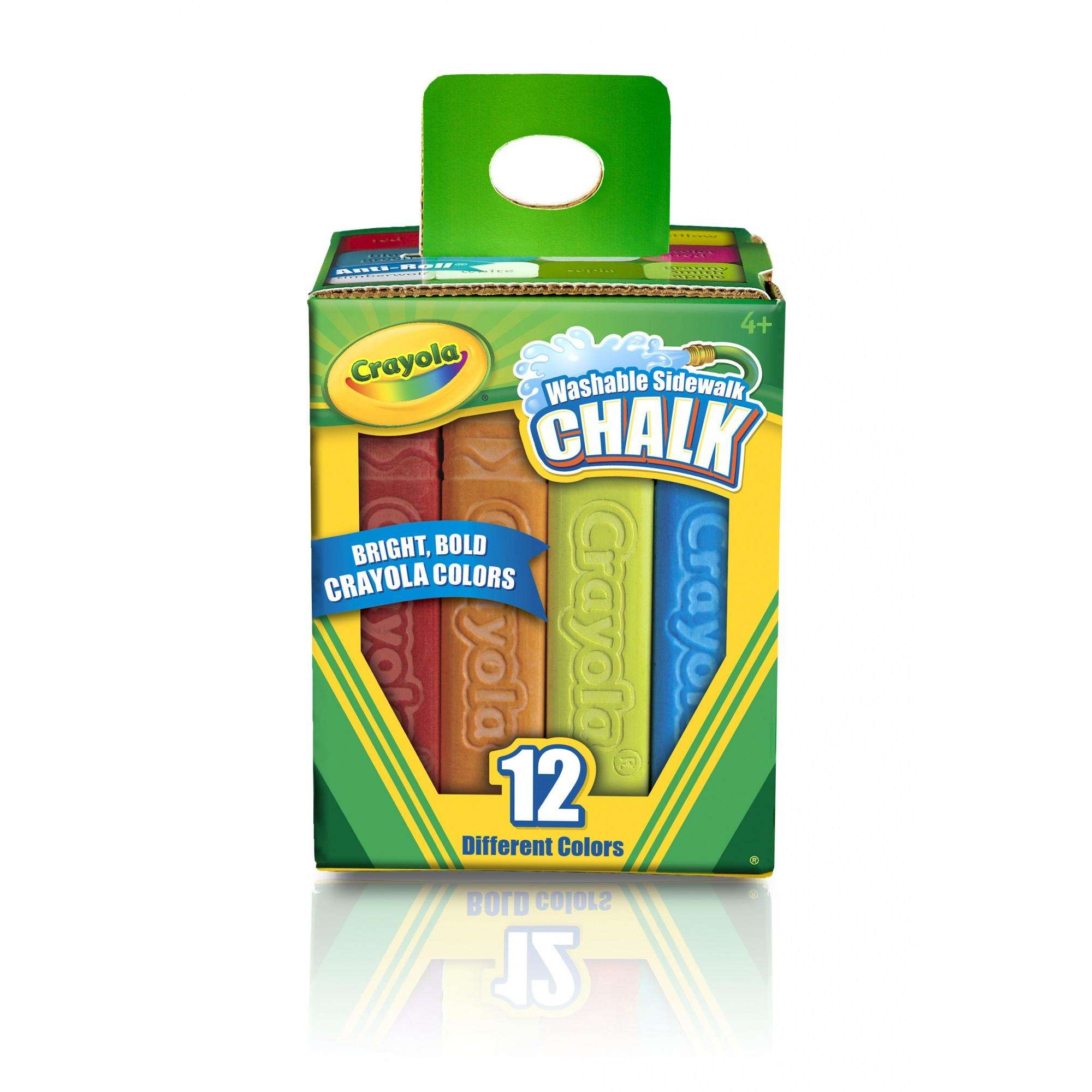 Crayola Outdoor Washable Sidewalk Chalk, 12 Count And Colors