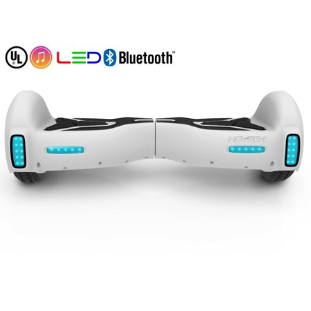 Hover-1 H1 UL Certified Electric Hoverboard w/ 6.5 Wheels, LED Lights, Bluetooth Speaker, and App Enabled - White