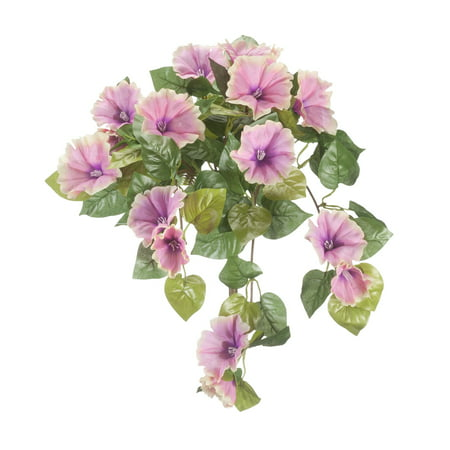 "OakRidge Artificial Petunia Hanging Stem – Pink, 25"" Long – Faux Floral Home Décor for Indoor/Outdoor Use ()"