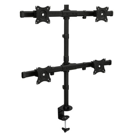 "Mount-It! Quad Monitor Mount for 13""-27"" Computer Screens with Clamp and Grommet Base"