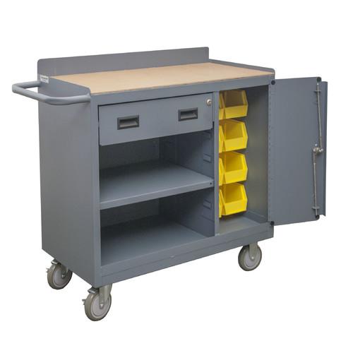 Mobile Workbench,1200 lb.,18 inL,36 inW Durham MFG 2212A-BLP-8B-LU-95