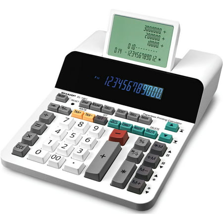 Sharp Calculators, SHREL1901, EL-1901 12-Digit Paperless Printing Calculator, 1 Each,