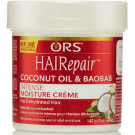 6 Pack - Organic HAIRepair coconut oil & baobab Intense Moisture Creme 5 oz