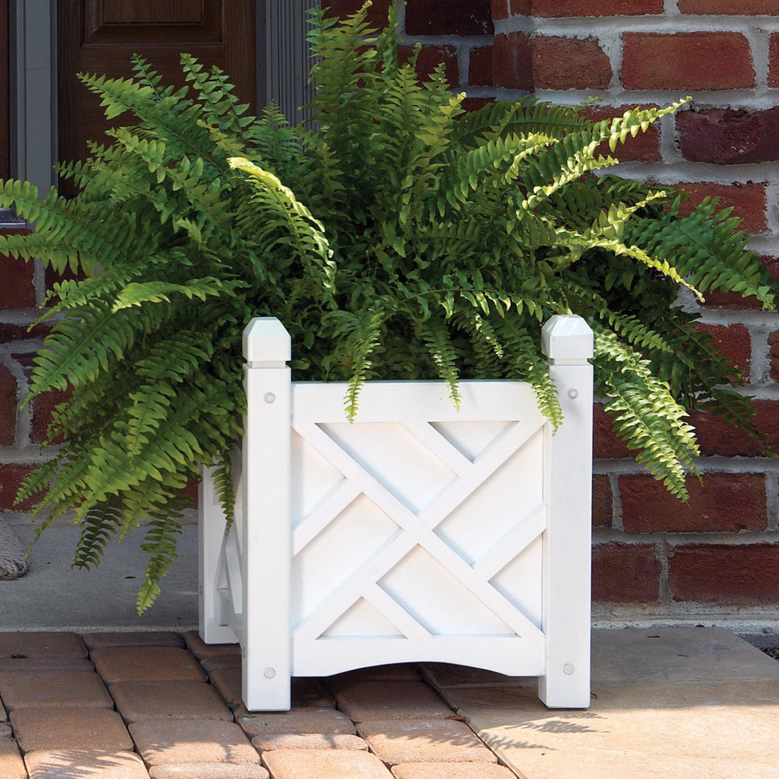 Solid Wood Chippendale Planter Box   Walmart.com