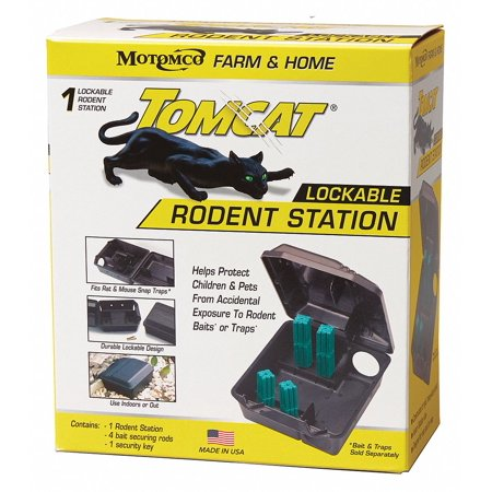 Rodents Race (Tomcat Rodent Station, w/Rods, 9-1/2 in.L Black )