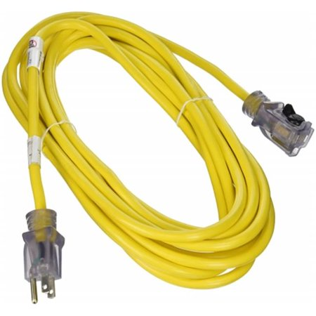 Prime ECPL511725 Yellow Outdoor Jobsite Locking Extension Cord, 25 ft. - image 1 of 1