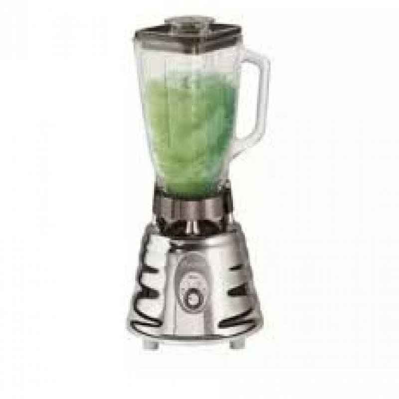 Oster Retro Chrome 500 Watt Beehive Blender 2 Speed With 5 Cup Glass Jar