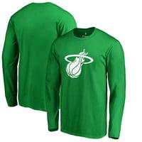 Miami Heat Fanatics Branded St. Patrick's Day White Logo Long Sleeve T-Shirt - Kelly Green