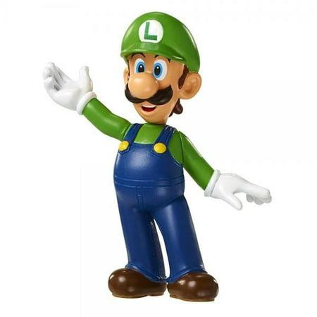 World of Nintendo Super Mario Bros. Luigi Jakks Pacific Mini Figure ()