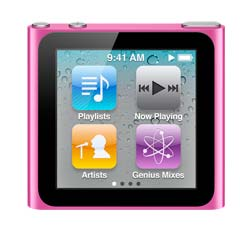 Apple iPod Nano 6th Generation 16GB Pink-Like New , No Retail Packaging!