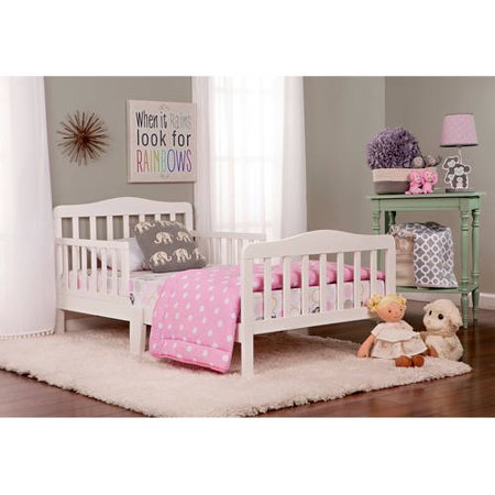 Dream On Me Classic Design Toddler Bed, White - Walmart.com
