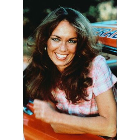Catherine Bach 24x36 Poster Dodge Charger General Lee Dukes of Hazzard