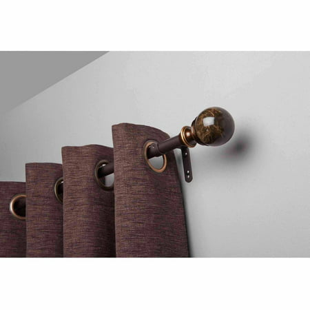 Better homes gardens 36 66 marble adjustable curtain - Better homes and gardens curtain rods ...