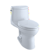 TOTO® UltraMax® II One-Piece Elongated 1.28 GPF Universal Height Toilet with CeFiONtect?, Cotton White - MS604114CEFG#01