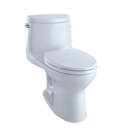 TOTO® UltraMax® II One-Piece Elongated 1.28 GPF Universal Height Toilet with CeFiONtect™, Cotton White - (1 Piece Toilet)