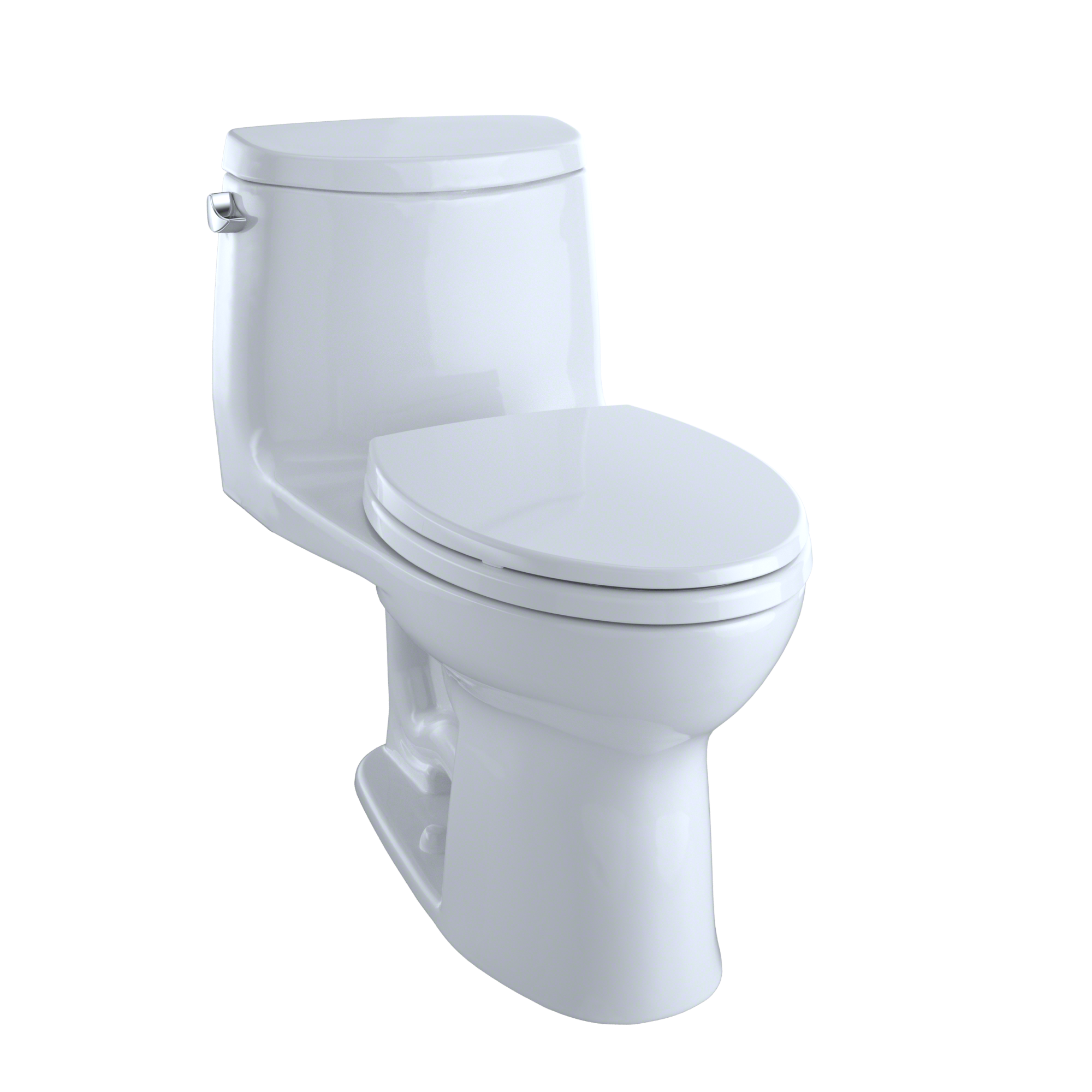 TOTO® UltraMax® II One-Piece Elongated 1.28 GPF Universal Height Toilet with CeFiONtect™, Cotton White - MS604114CEFG#01