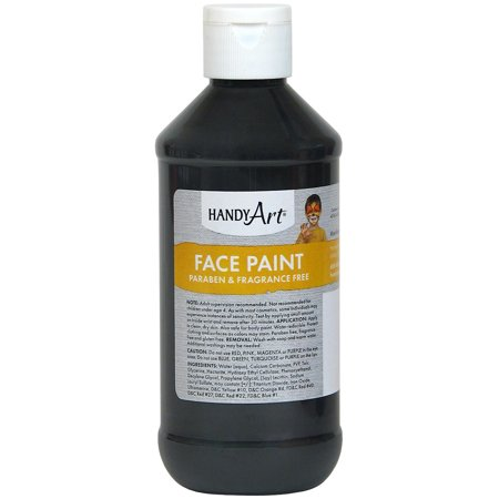 Handy Art Face Paint 8oz-Black](Kids Face Paints For Halloween)