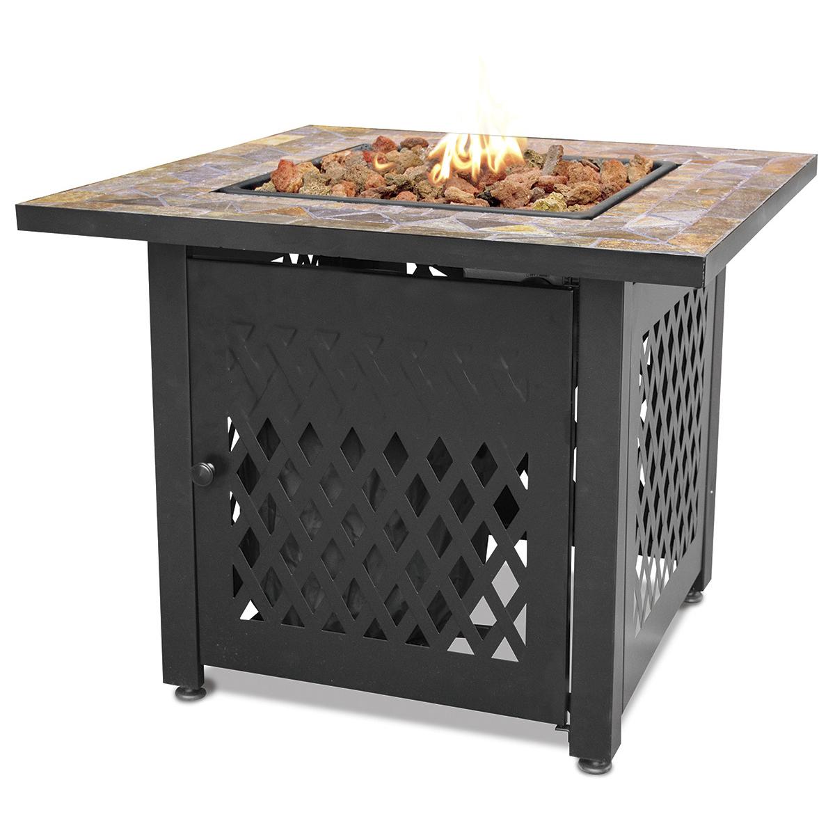 Endless Summer Decorative Slate Tile Mantel LP Gas Outdoor Fire Pit | GAD1429SP