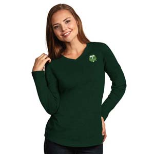 Portland Timbers Womens Flip V-Neck L/S T-Shirt (Color: Green)