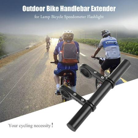 - Bicycle Extender Double Bike Handlebar Extender Lightweight Mount Aluminum Alloy Bicycle Handlebar Extension Bracket, Ideal for 1.3-Inch Handlebars, Black