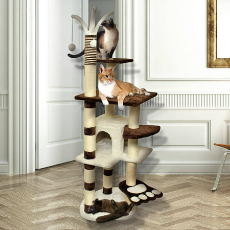 Cat Tree Tower - Premium Cat Tree Tower Condo Scratch Furniture, 64