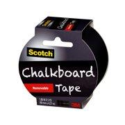 Scotch Chalkboard Removable Tape, Black, 1.88 in x 5 yd
