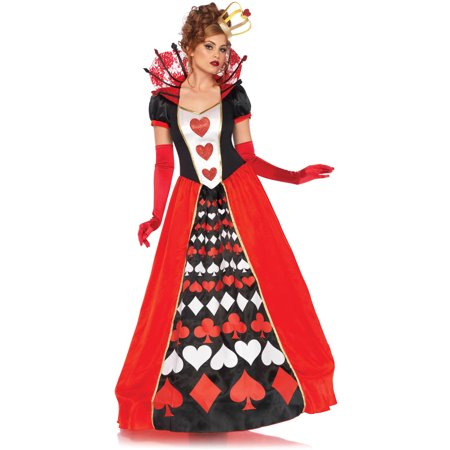Leg Avenue Women's Wonderland Queen of Hearts Halloween Costume - Queen Of Hearts Makeup For Halloween