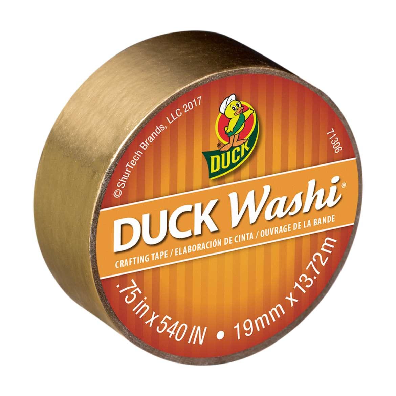 "Duck Brand Washi Crafting Tape, 0.75"" x 15 yards, Metallic Gold"