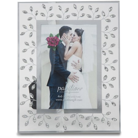 Pavilion - Tree Branch White Crystal 4x6 Wedding Picture Frame