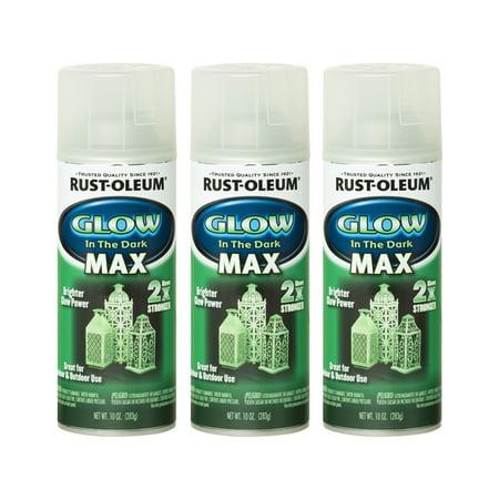 (3 Pack) Rust-Oleum Specialty Glow In The Dark MAX - Glow In The Dark Outdoor Paint