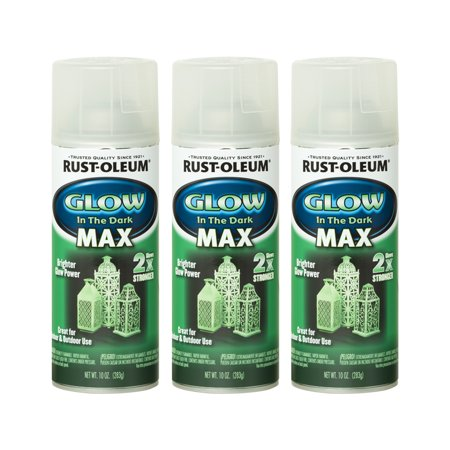 (3 Pack) Rust-Oleum Specialty Glow In The Dark MAX - Blue Glow In The Dark Spray Paint