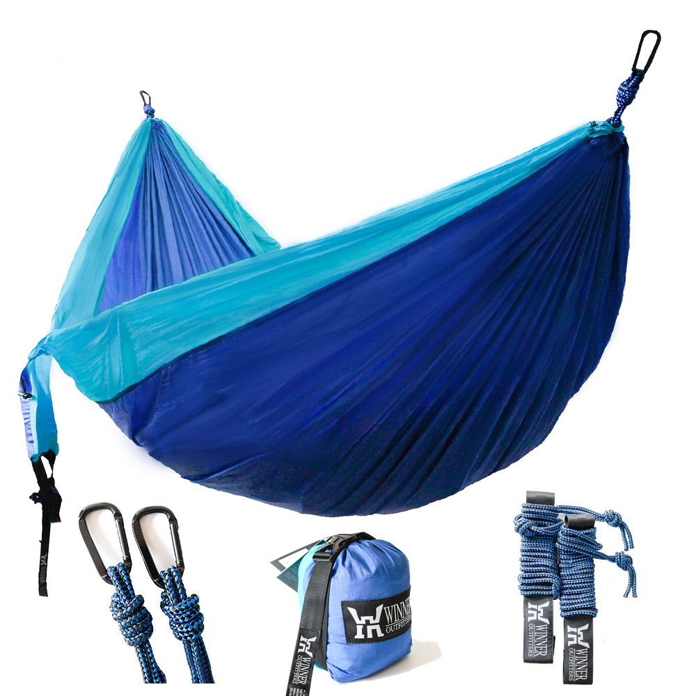 double camping hammock   lightweight nylon portable hammock best parachute double hammock for backpacking double camping hammock   lightweight nylon portable hammock best      rh   walmart