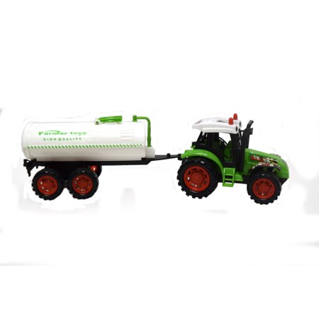 Farm Tractor Construction Toy Tractor Water Truck Trailer Vehicle Toy-OC772