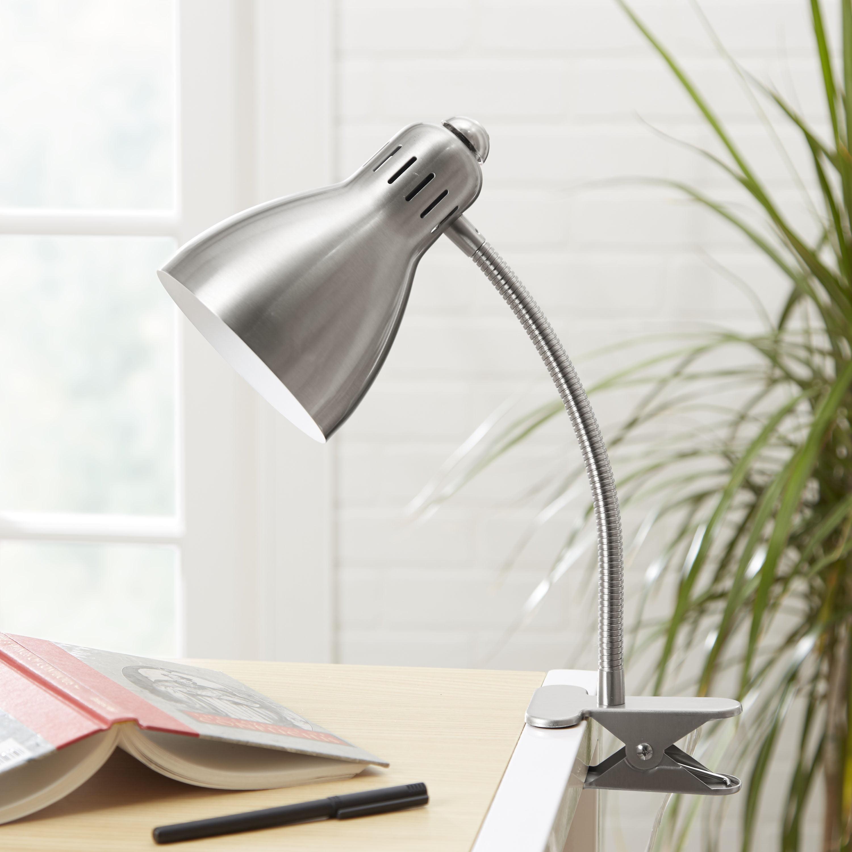 Mainstays Gooseneck Clip Lamp, CFL bulb included, Black